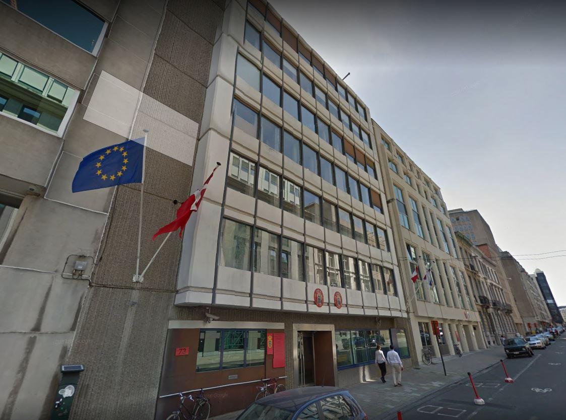 portes EI30 en acier pour l'ambassade du Danemark à Bruxelles