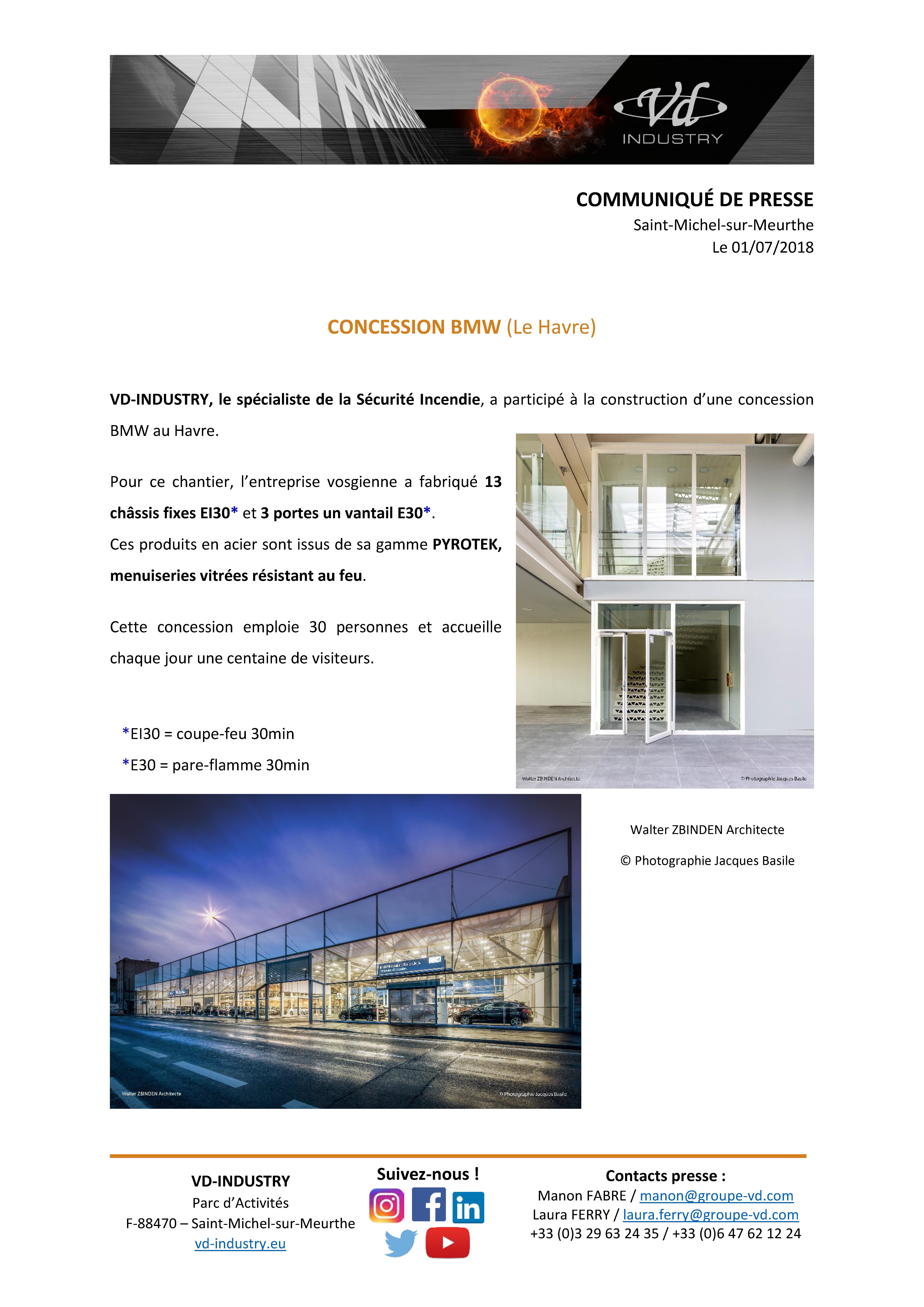 CP concession BMW - Le Havre - juillet 2018