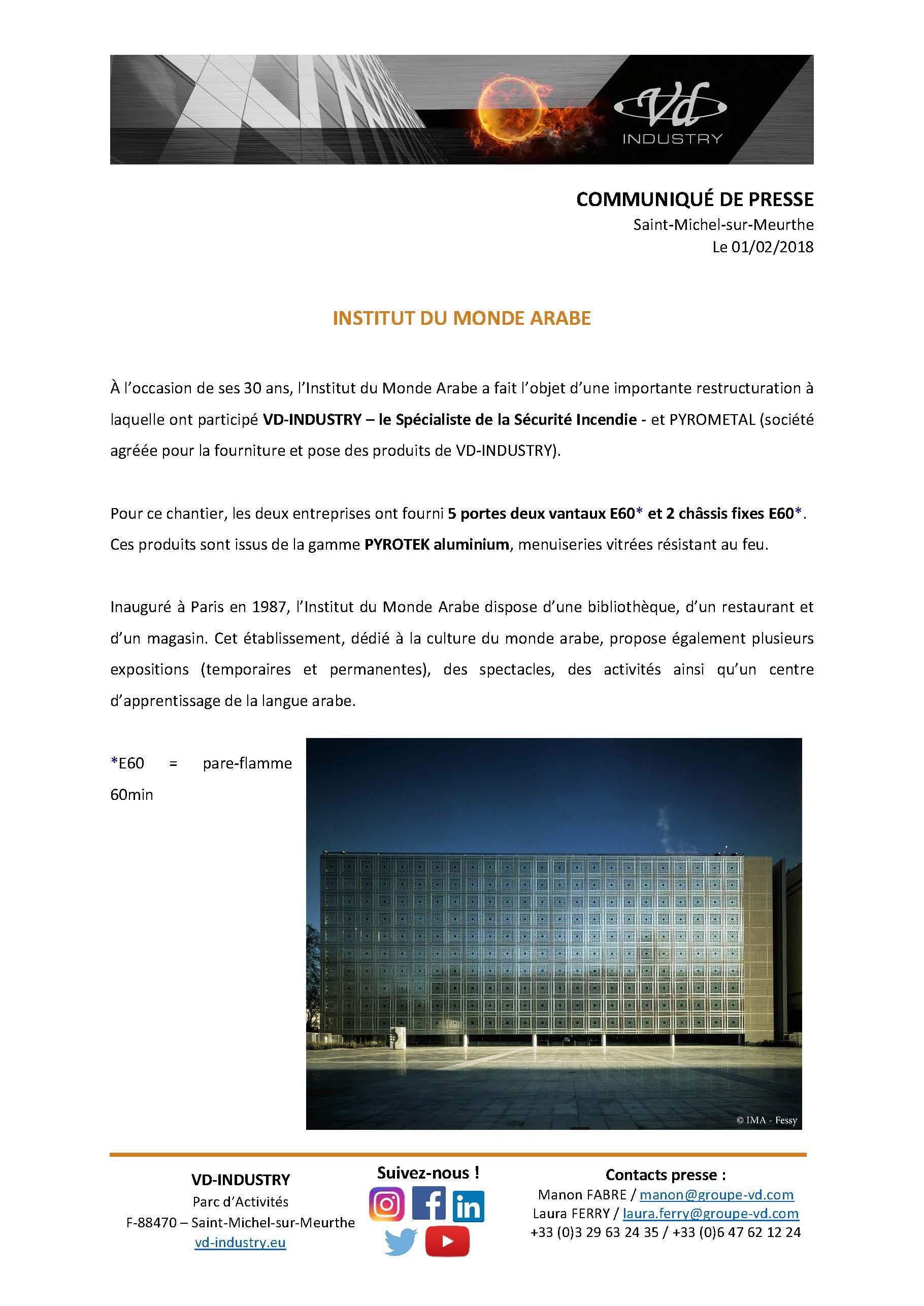 CP Institut du Monde Arabe à Paris