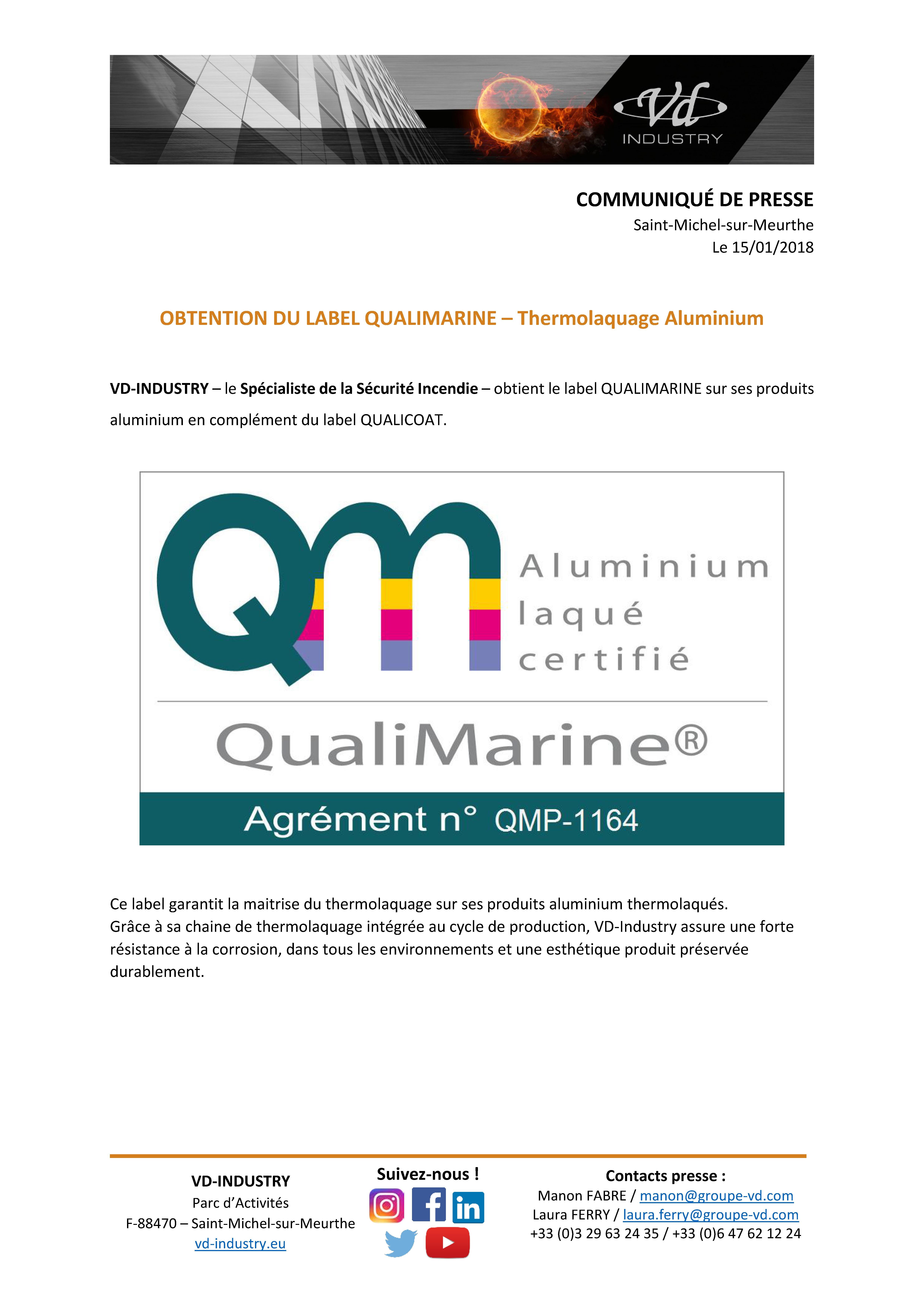 CP label Qualimarine