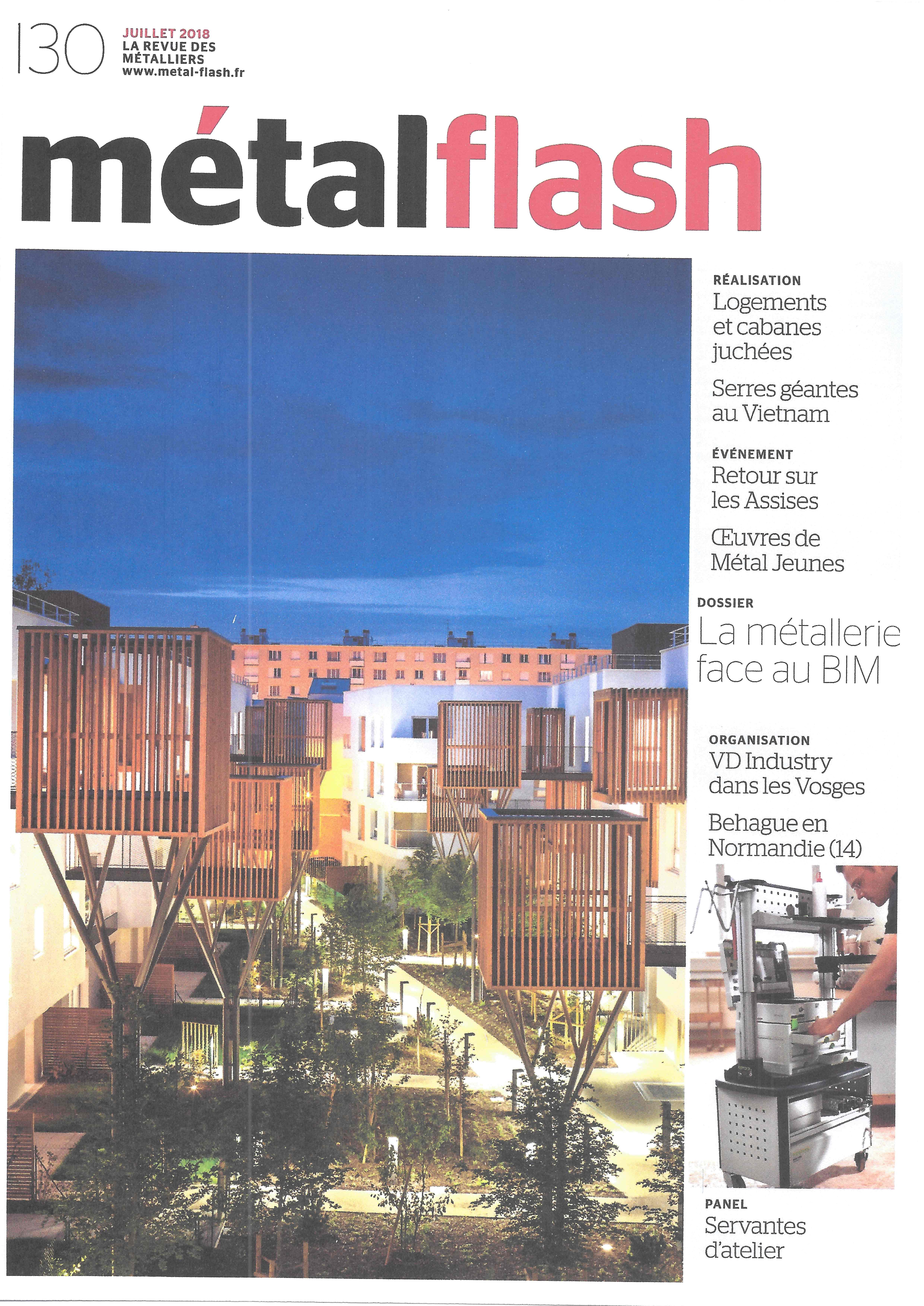Metalflash n°130 - juillet 2018 - organisation de l'atelier de VD-INDUSTRY