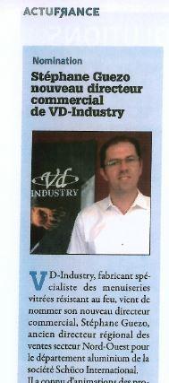 VPM - septembre 2015 - nouveau directeur commercial chez VD-INDUSTRY