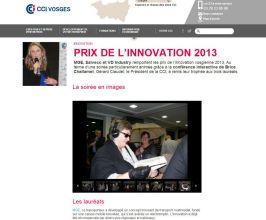 CCI des Vosges - Prix de l'innovation 2013