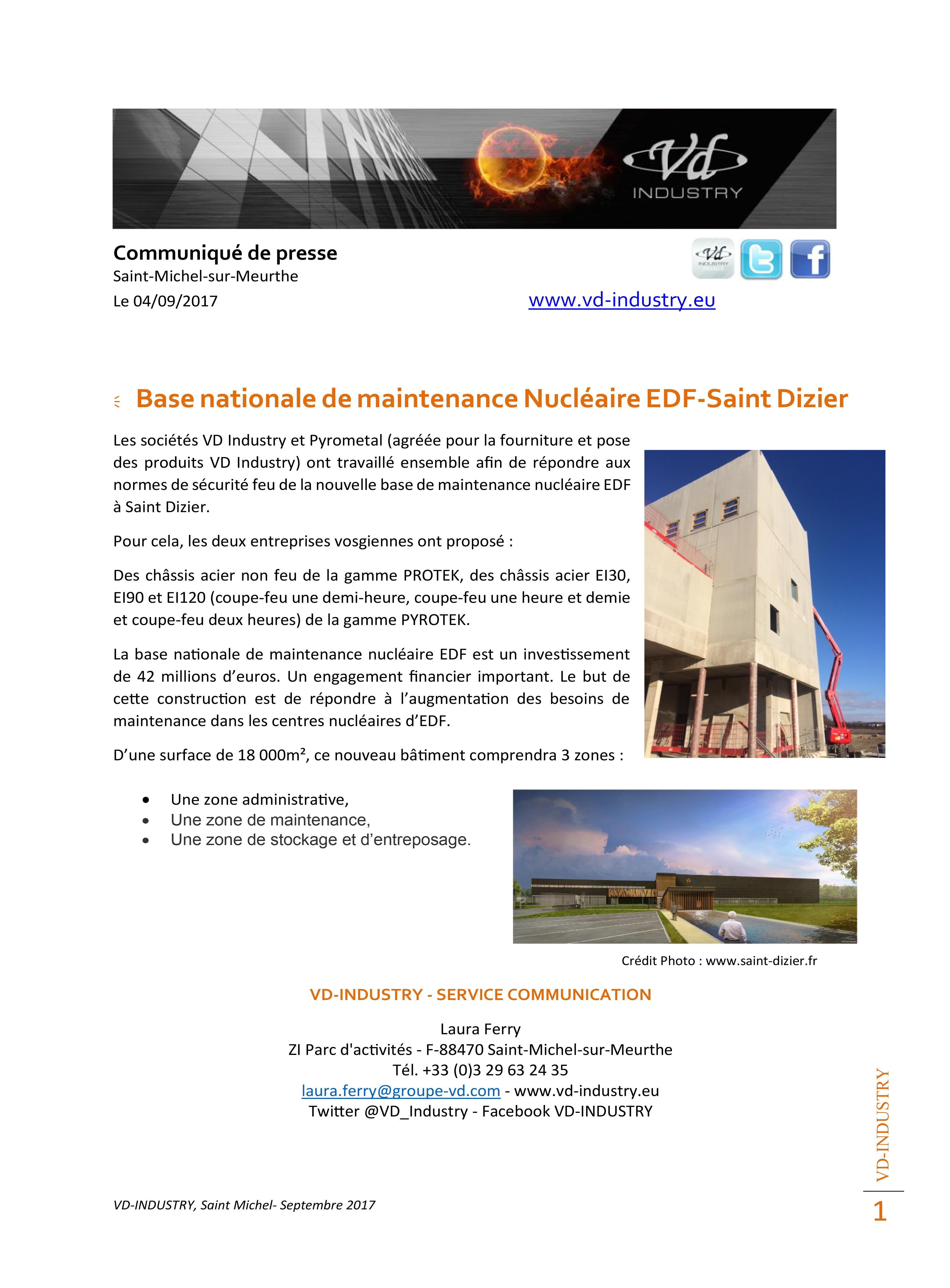 CP base nationale de maintenance EDF