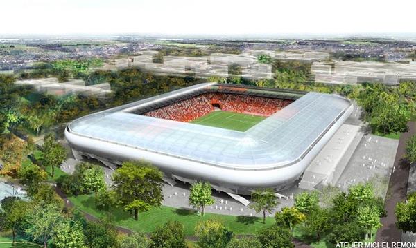 menuiseries vitrées résistant au feu au stade de Dijon