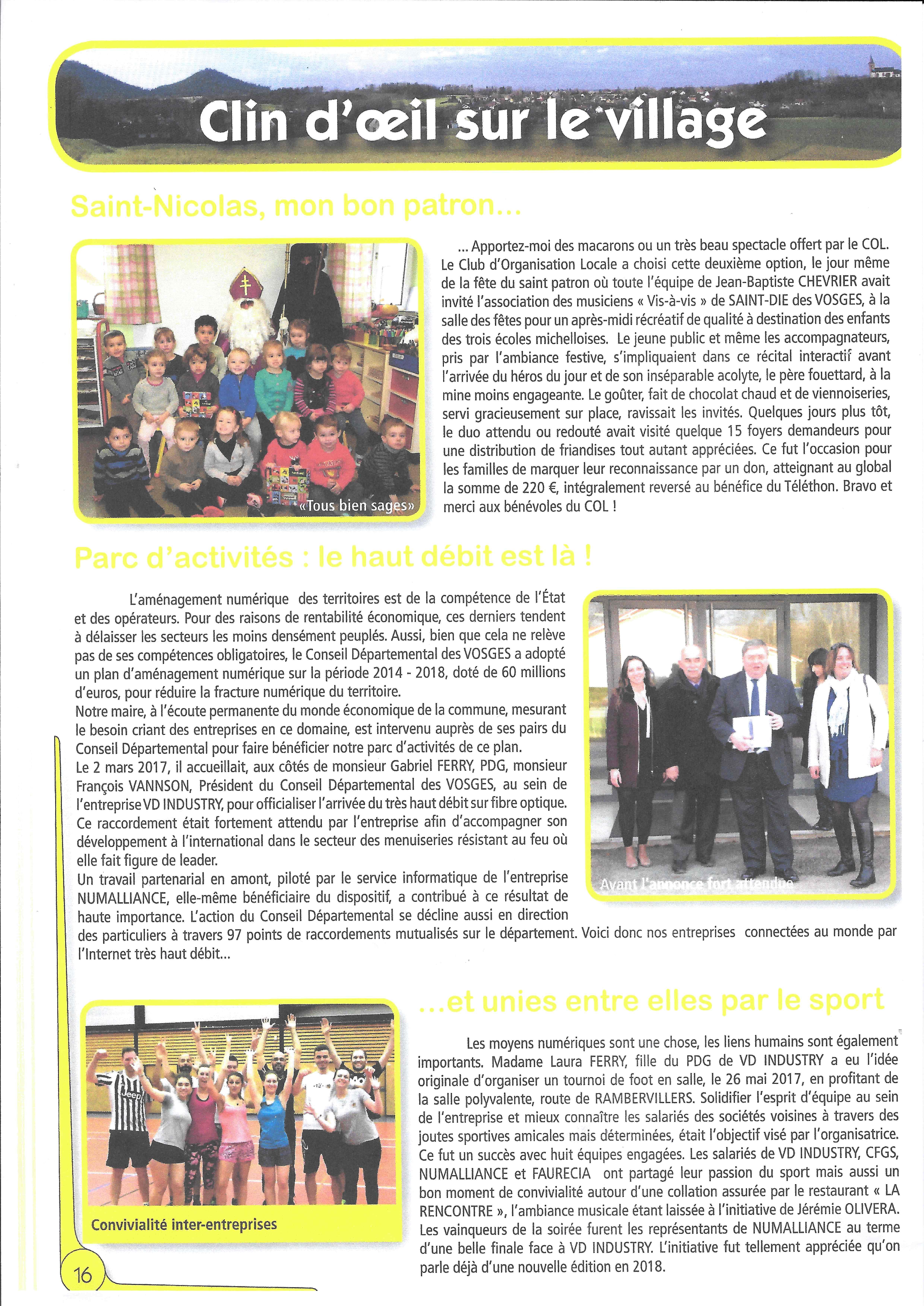 Journal St-Michel-sur-Meurthe - décembre 2017 - bilan 2017