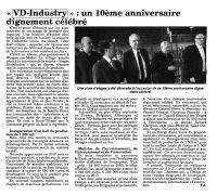 L'écho des Vosges - mars 2013 - Anniversaire 10 ans VD-INDUSTRY