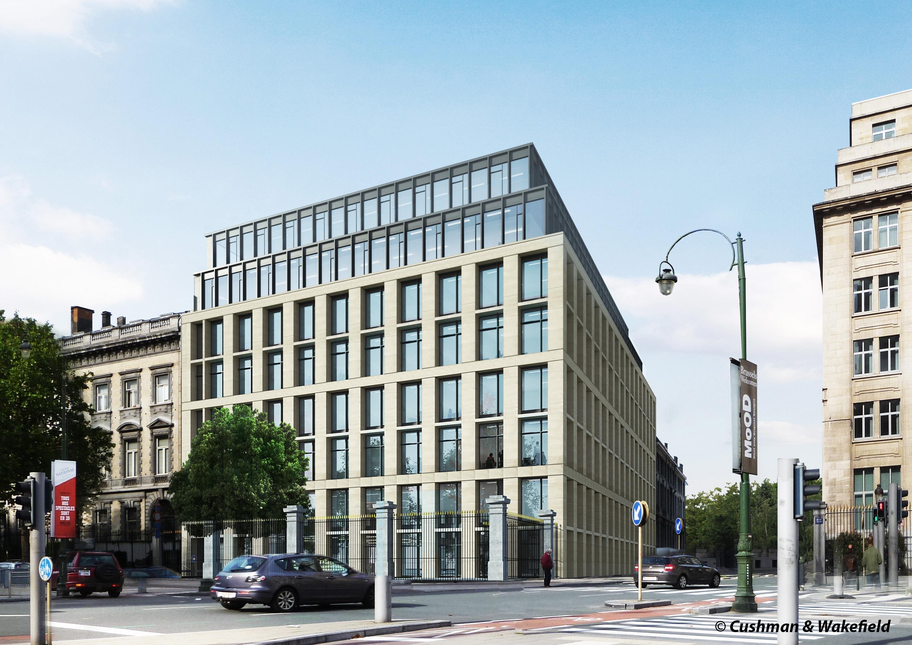 châssis coupe-feu au siège de Facebook à Bruxelles