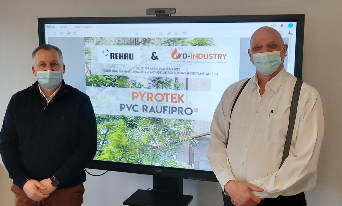 Partenariat VD-Industry et Rehau autour des menuiseries PVC résistant au feu